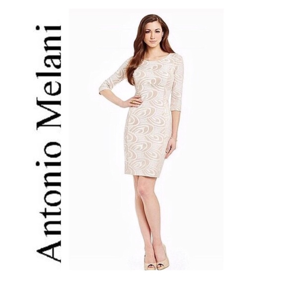 ecbc74fd6165 ANTONIO MELANI Dresses | Gorgeous Ivorynude Lace Dress | Poshmark